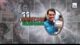 Roland Garros: Οι 11 κούπες του Ναδάλ σε 44''(vid)