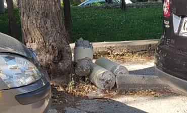 Υπολείμματα τσιμεντένιας κολόνας στον Αγ. Δημήτριο στην Κηφισιά