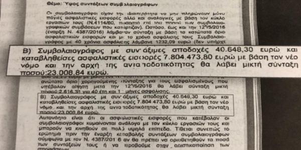 Ο ΣΥΡΙΖΑ γνώριζε από το 2018 για τις συντάξεις – ντροπή των 23.000 ευρώ