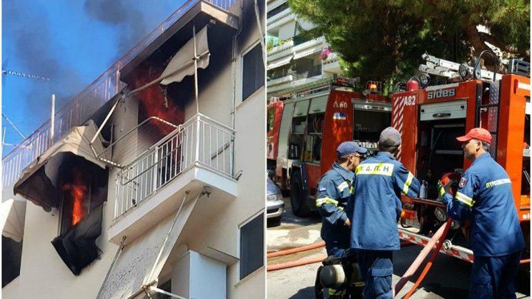 Στις φλόγες διαμέρισμα στον Άλιμο – Εκκενώθηκε πολυκατοικία