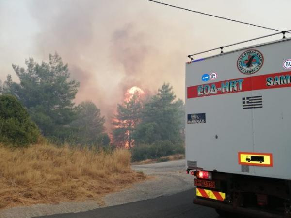 Οι πυρκαγιές σε Σάμο και Κύθηρα είναι σε ύφεση
