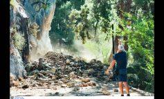 Ναύπλιο: Μεγάλη κατολίσθηση στην πολυσύχναστη παραλία της Αρβανιτιάς ( video )