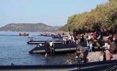 Απόβαση ενός ολόκληρου τάγματος προσφύγων εχθές στη Λέσβο
