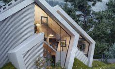Μία αριστουργηματική κατοικία με σύγχρονο σχεδιασμό που εμπνέεται από τις βουνοκορφές