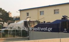 Έφτασαν στη Θεσσαλονίκη τα κανόνια εκτόξευσης νερού της ΕΛ.ΑΣ. για τα μέτρα περιφρούρησης της ΔΕΘ