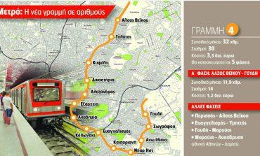 Νομοθετική ρύθμιση για να προχωρήσει ο διαγωνισμός των 1,8 δισ. για τη γραμμή 4 του Μετρό της Αθήνας
