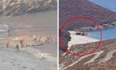 Μεγάλη οικολογική καταστροφή στην Τζιά. Μπαζώνουν παραλία