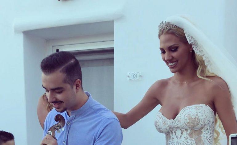 Λαμπερός γάμος στη Μύκονο για τη Σάσα Μπάστα