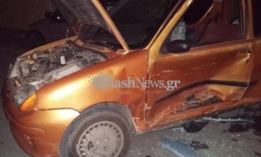 Δύο τραυματίες σε τροχαίο ατύχημα στα Χανιά