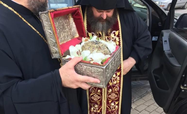 Η Τίμια Κάρα του Αγίου Παρθενίου στην Αγία Ματρώνα