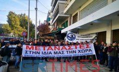Διαμαρτυρία αστυνομικών για μεταθέσεις λόγω μεταναστευτικού στη Θεσσαλονίκη