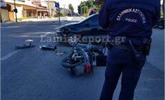 Λαμία: Τραυματίστηκε ντελιβεράς σε τροχαίο