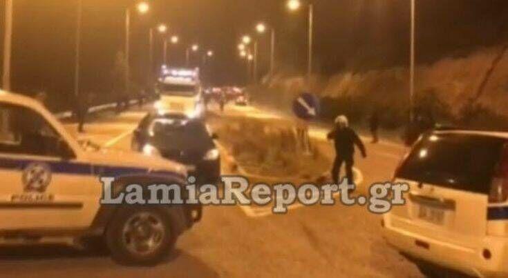Μάχες αστυνομικών με οπαδούς της Λάρισας στη Λαμία
