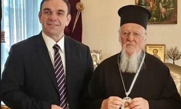 Συνάντηση με τον Οικουμενικό Πατριάρχη κκ Βαρθολομαίο στο Φανάρι του Προέδρου του ΕΟΑΝ Νίκου Χιωτάκη.