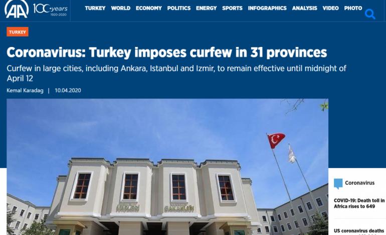 Κορωνοϊός : Η Τουρκία βάζει «λουκέτο» 48 ωρών σε Άγκυρα και Κωνσταντινούπολη