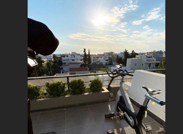 Ολυμπιακός : Αυτοσχέδιο γυμναστήριο με θέα για τον Γκασπάρ