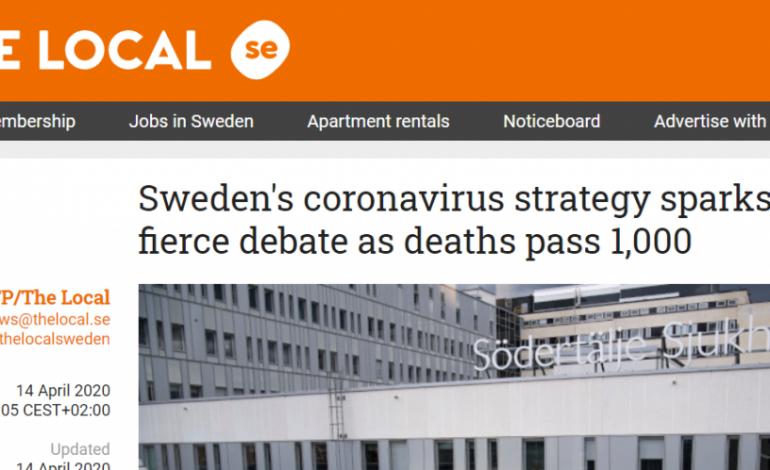 Χάος στη Σουηδία με τα «χαλαρά» μέτρα κατά του κοροναϊού, ενώ οι νεκροί ξεπέρασαν τους 1.000