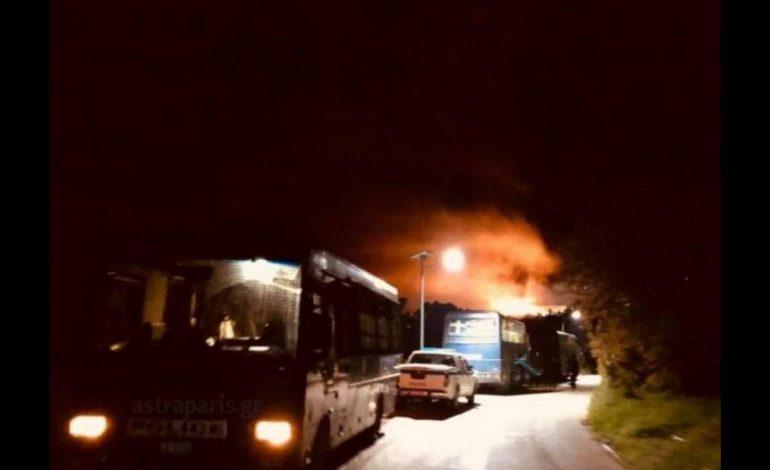 Επεισόδια το βράδυ στον καταυλισμό στη Χίο