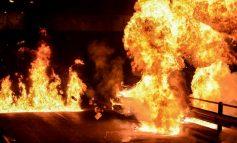 Επίθεση με μολότοφ στο πάρκινγκ της Τροχαίας Αττικής