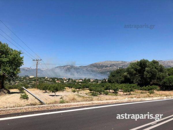 Σε εξέλιξη μεγάλη πυρκαγιά στη Χιο – Εκκενώνονται δύο χωριά