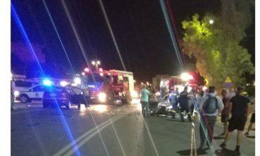 Μετωπική θανάτου στην Κρήτη - Σοκαριστικές εικόνες από το τροχαίο