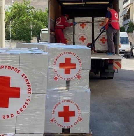 Ο Ελληνικός Ερυθρός Σταυρός συνεχίζει τη συλλογή ανθρωπιστικού υλικού για το Λίβανο