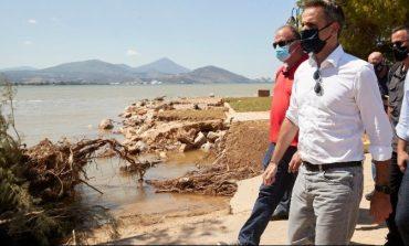 Επίσκεψη του πρωθυπουργού στις πληγείσες περιοχές στην Καρδίτσα