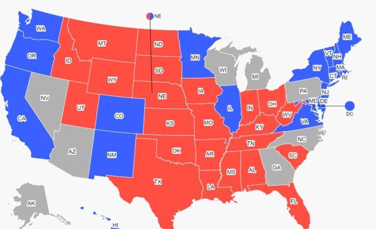 Προεδρικές εκλογές ΗΠΑ : Έξι αμφίρροπες Πολιτείες θα κρίνουν τον νικητή
