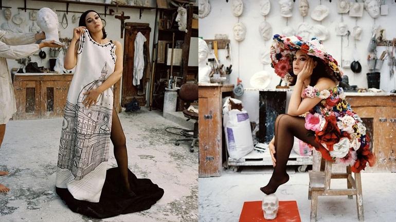 Η Monica Bellucci ποζάρει με δημιουργίες Dolce & Gabbana σε ένα από τα πια εμβληματικά εξώφυλλα της καριέρας της