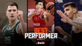 Οι «Best Performer in Greece by bwin» του Ιανουαρίου στη EuroLeague! (vids)