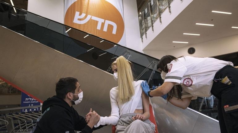Ισραήλ: Ξεπέρασε το 55% το ποσοστό των πολιτών που έχουν εμβολιαστεί