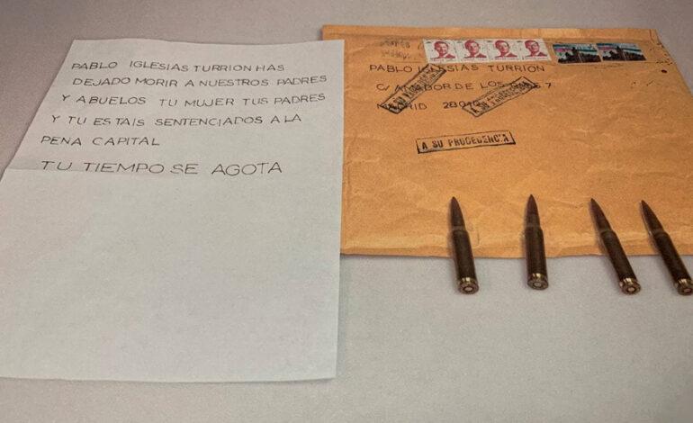 Επιστολή με σφαίρες στον ηγέτη των Podemos Πάμπλο Ιγκλέσιας