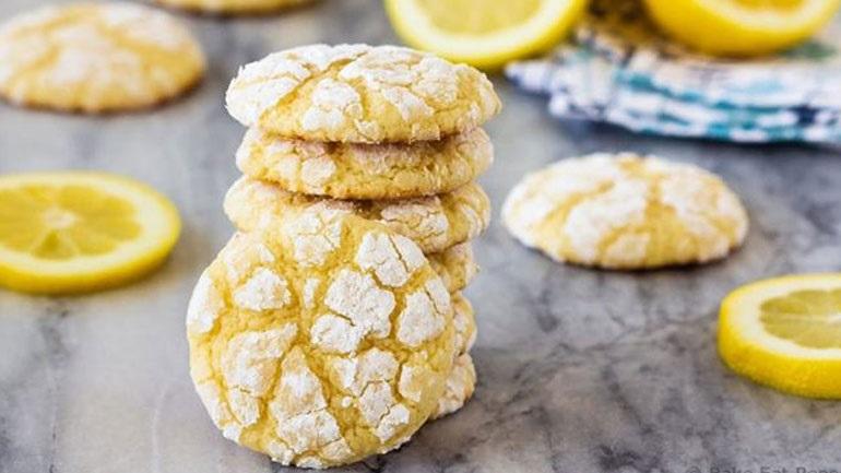 Συνταγή : soft cookies με λεμόν