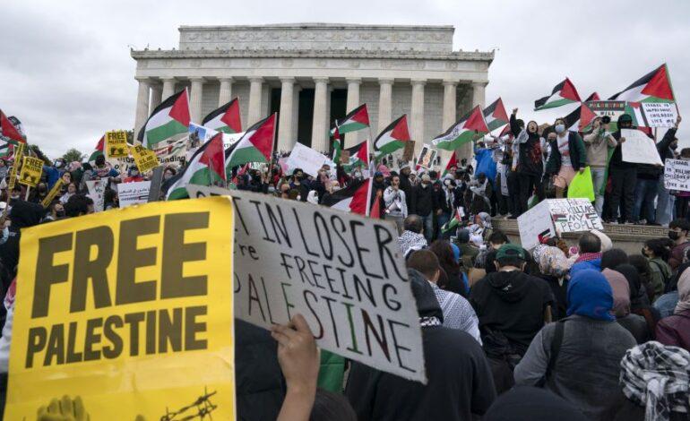 Διαδήλωση υπέρ της Παλαιστίνης στην Ουάσιγκτον