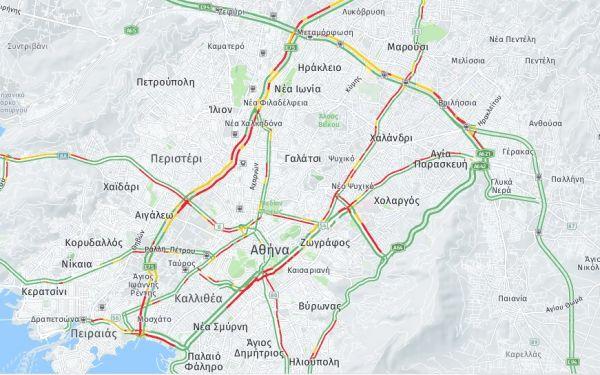 Κίνηση στους δρόμους: Χάος στην Αθήνα λόγω της στάσης εργασίας του μετρό