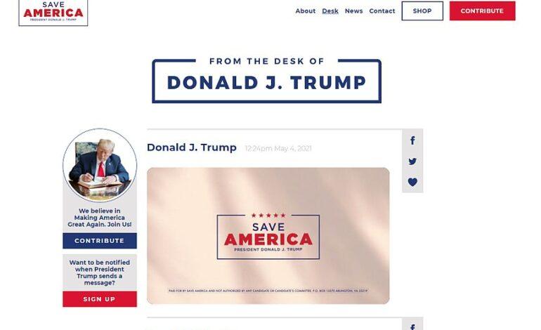 Ο Ντόναλντ Τραμπ επιστρέφει δυναμικά με νέα ιστοσελίδα