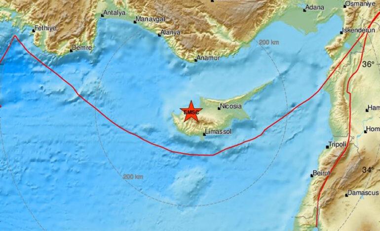 Σεισμός 4,4 Ρίχτερ στην Κύπρο