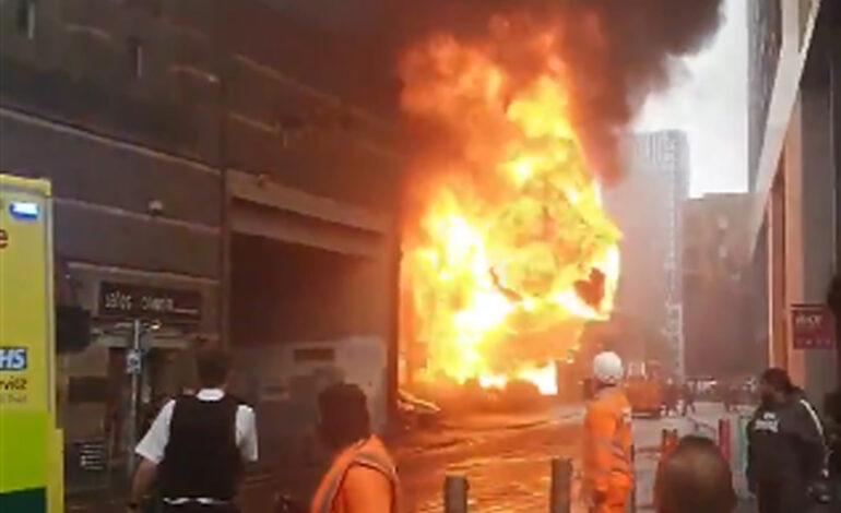 Βίντεο με έκρηξη από το σημείο όπου ξέσπασε μεγάλη φωτιά στο Λονδίνο