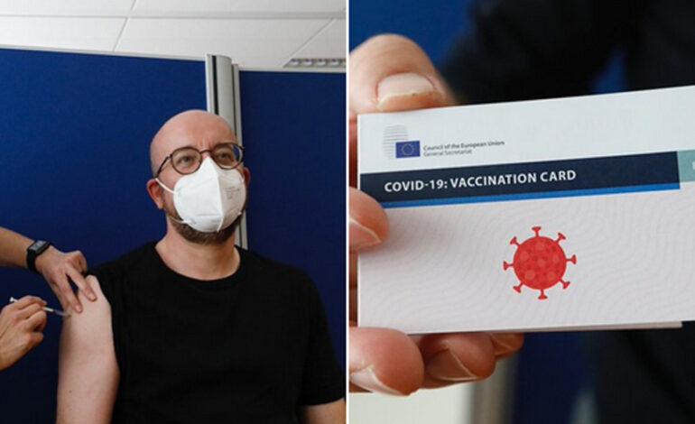 Εμβολιάστηκε ο Πρόεδρος του Ευρωπαϊκού Συμβουλίου Σαρλ Μισέλ