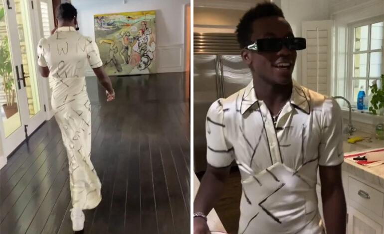 Ο 15χρονος γιος της Μαντόνα βάζει φόρεμα και περπατά με αυτοπεποίθηση στο σπίτι