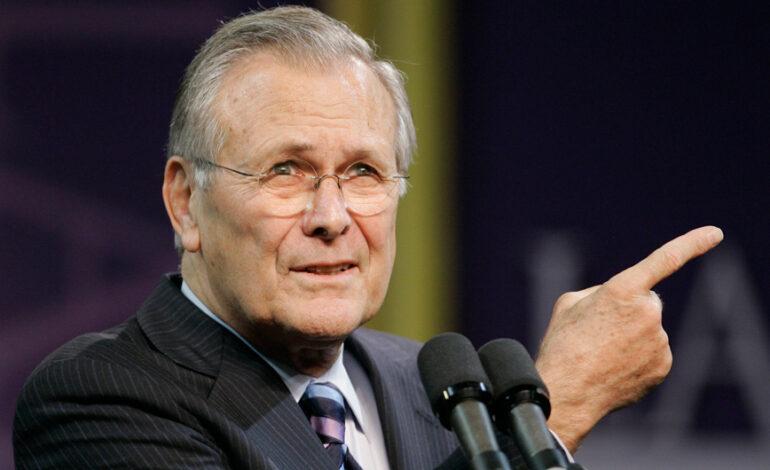 Πέθανε ο πρώην υπουργός Άμυνας των ΗΠΑ, Ντόναλντ Ράμσφελντ