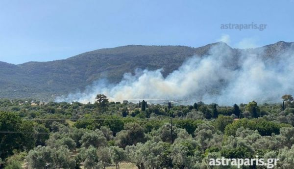Χίος: Διπλή φωτιά κοντά στο ΚΥΤ της ΒΙΑΛ