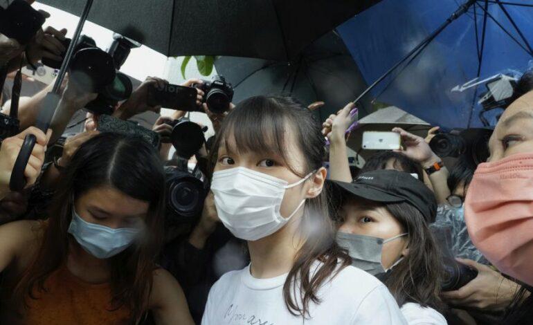 Χονγκ Κονγκ: Ελεύθερη η ακτιβίστρια υπέρ της δημοκρατίας Άγκνες Τσόου
