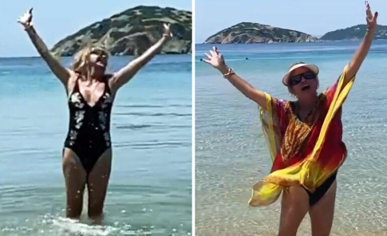 Γκόλντι Χόουν: Ξετρελαμένη με τη Σκιάθο, δεν μπορεί να σταματήσει τον χορό – «Mamma Mia, τι νησί!»