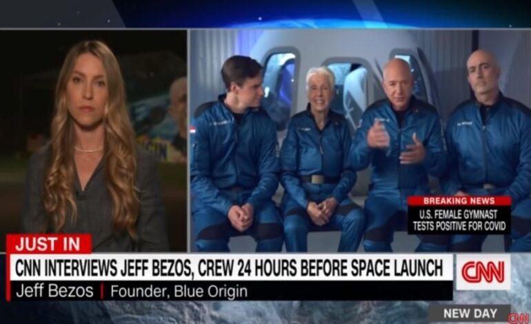 Ο Τζεφ Μπέζος ετοιμάζεται για τη σημερινή του πτήση στο διάστημα